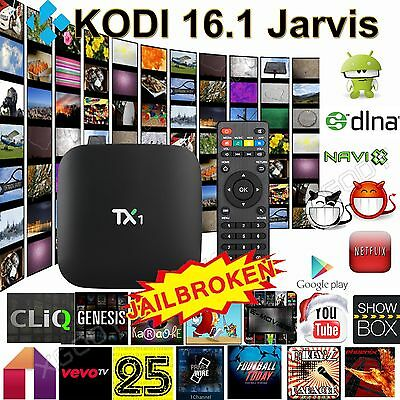 New TX1 Quad Core Android 4.4 TV Box Fully Loaded KODI (XBMC) Free Sports Movies