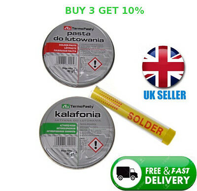 Electronic kit Solder Flux Paste 40g + 40g colophony rosin + 10g solder wire