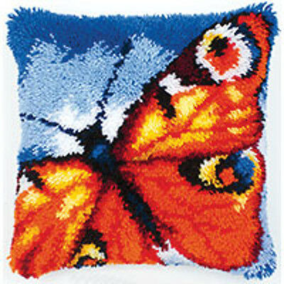 Vervaco Latch Hook  Cushion Kit : Butterfly