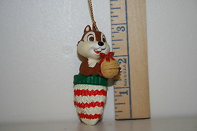 Grolier Ornament - Chip in Mitten With Nut - Chip N Dale - Disney