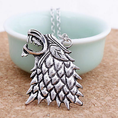 Game of Thrones Halskette Wolf Schattenwolf Stark Schmuck Kette Symbol Wappen