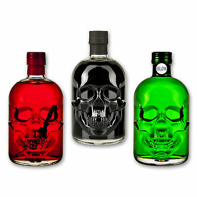 Absinthe Totenkopf Set: Amnesie 69,9% + Black Head 55% + Red Chili Head 55%