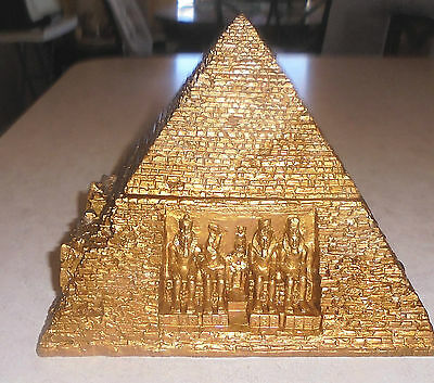 "Pyramid Jewelry Box Large Eye Of  Horus 7"" X  7"" Very Good Condition Guaranteed"