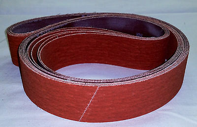 "2"" x 42"" Sanding Belts 120 Grit Premium Orange Ceramic (5pcs)"