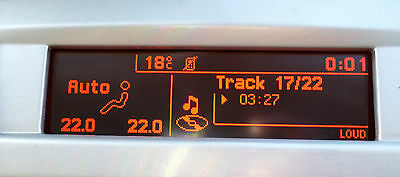 Peugeot 407 Citroen C5 RD4 LCD Display Screen Clock Genuine & Original