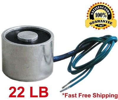 22 LB Electric Lifting Magnet Electromagnet Solenoid Holding 30mm