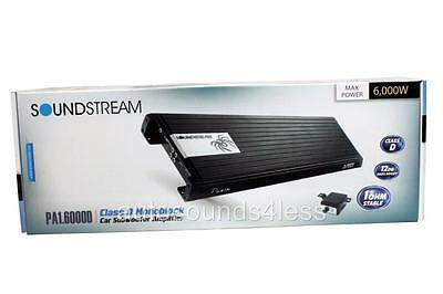 Soundstream PA1.6000D 6000 Watts Monoblock Class D Car Subwoofer Amplifier New