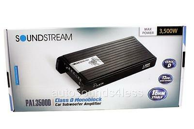 Soundstream PA1.3500D 3500 Watts Monoblock Class D Car Subwoofer Amplifier New