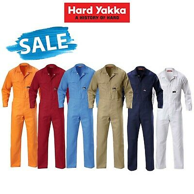 Mens Hard Yakka Foundations Coverall Cotton Drill Lightweight Overall Y00030