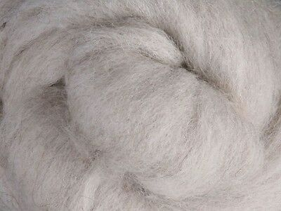 CORRIEDALE WOOL SLIVER Ashford NZ Natural Light Grey for spinning felting 1Kg