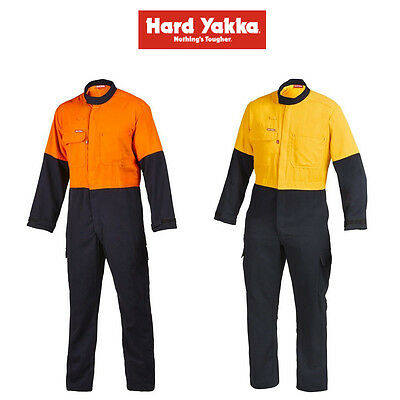 Mens Hard Yakka Protect Hi-Vis 2 Tone Tecasafe Plus Coverall Safety FR Y00302