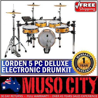 New Lorden Deluxe 5 Piece Digital Electronic Drum Kit