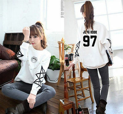 Kpop BTS Sweater Bangtan Boys Hoodie Pullover Jungkook Jumper Clothes J-hope V