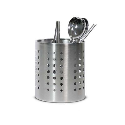 Stainless Steel Round Cutlery Storage Holder Utensil Stand Kitchen Organizer