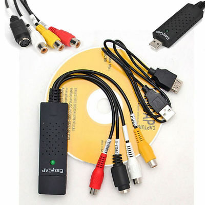 USB Video Audio VHS to DVD Converter Capture Card Adapter +Software for Windows