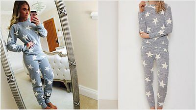 Ladies Womens Celeb Billie Faiers Star Tracksuit Loungewear Jogging Lounge Suit