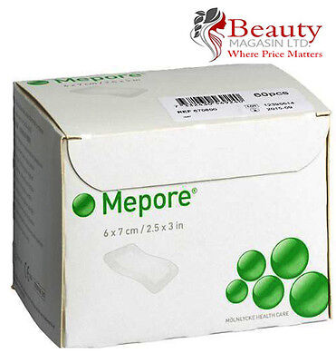 Mepore Self-Adhesive First Aid Dressing For Cuts Burns Wounds - 6 cm X 7 cm (60)