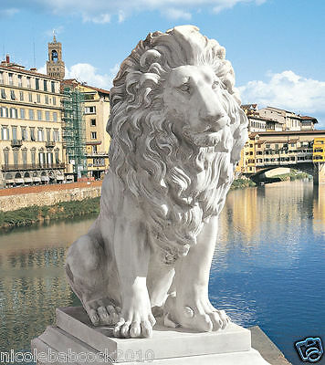 Stately Italian Estates Lion Of Florence Sculpture Statue