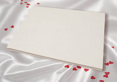 A5 White Linen Finish Wedding Guest Book