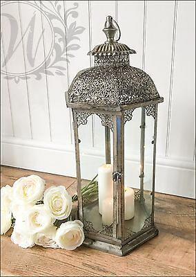 New Large Vintage Lantern Holder Candle Style Garden Antique French Moroccan