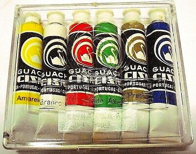 Vintage - 6 COLORED GOUACHE - MADE IN PORTUGAL IN THE 19670'S - BOXED