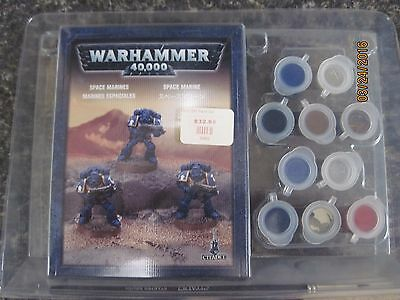 Warhammer 40K Space Marine paint set (new and sealed)