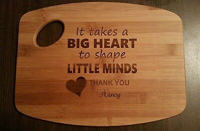 Personalized Bamboo Cutting Board For teacher caregiver daycare Christmas Gift