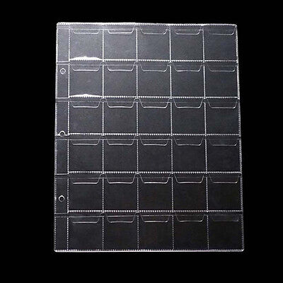 1Pc 30 Classic Coin Collection Storage Album Page Folder Clear Pockets Holder