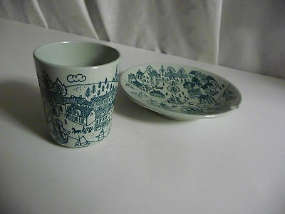 HOYRUP NYMOLLE ART FAIENCE Cup & AS IS Saucer Set DENMARK Limited Edition 4006