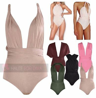 Womens New Celeb Style Multiway Anyway Bodysuit Leotard Party Summer Top