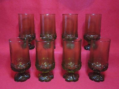 8 Franciscan Tiffin Maderia Citron Apple Green Footed Water/tea Glasses. 6 5/8""