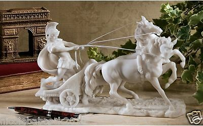 Roman Chariot Gladiator Sculpture 17Th Century Vatican Museum Replica