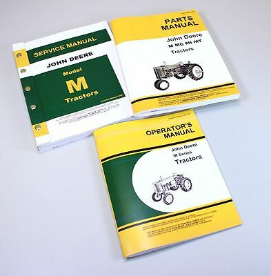 Set John Deere M Tractor Service Parts Owner Manual Technical Repair Operator