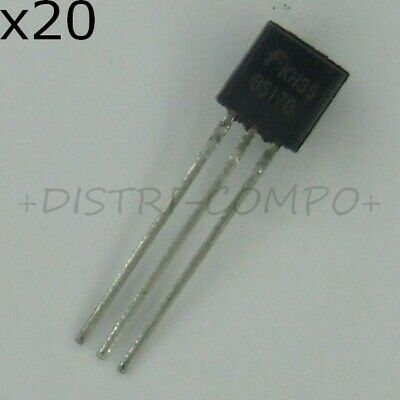 BS170 Transistor 60V 500mA TO-92 Fairchild RoHS (lot de 20)