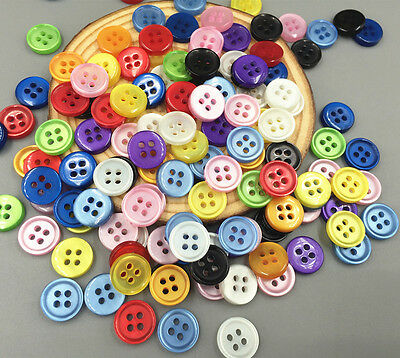 100PCS Resin buttons Fit sewing or scrapbooking 4-holes Cat's Eye Buttons 11mm