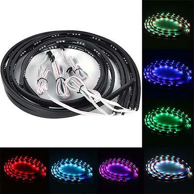 4 pcs Underbody Undercar Underglow 7 Color LED Light Set Kit for Car + Remote FB