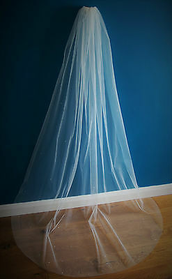 Wedding Veil *Chapel Length*1 Tier*the falling star crystal veil*Bespoke *
