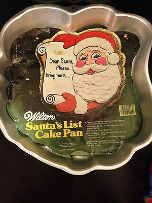 Dear Santa Christmas List Cake Pan Wilton 1982 Vintage Holiday Baking