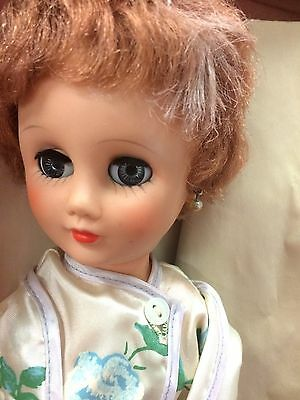 Mid century Bride Doll With Trousseau Trunk, Clothes And Accessories  Q