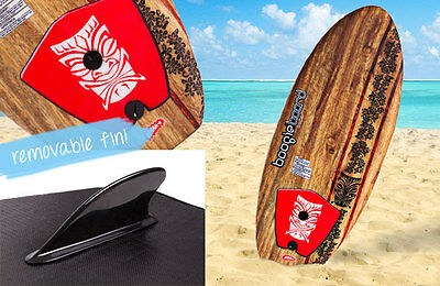 "Kids Learn To Surf Ripster 3'2"" Surfboard Boogie Board Removable Fin Nipper FUN"