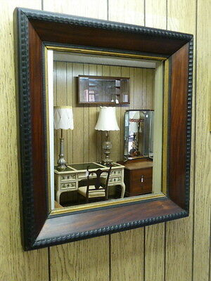 Antique French Louis Philippe Walnut Wood Mirror