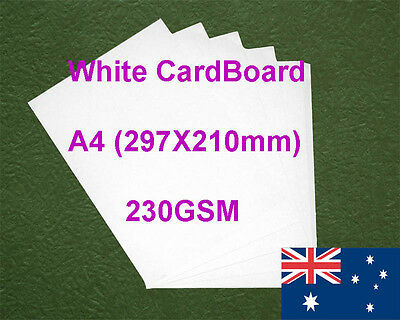 200 X A4 White Card Board Cards 230GSM All Wood Pulp Made