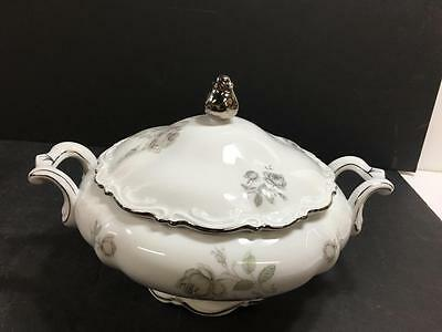 Mitterteich Mystic Rose Pattern Covered Vegetable Bowl (#1532)