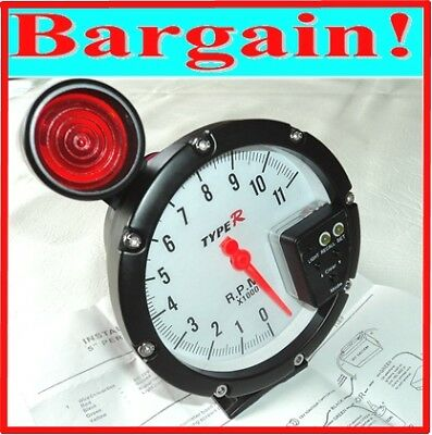"Car Tachometer Gauge + Shift Light - Monster Tacho - 5"" Inch Rev Counter"