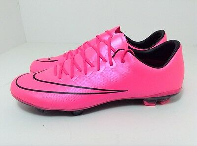 Nike Mercurial Vapor X FG 651620-660 Pink Youth Soccer Cleats Size 6Y