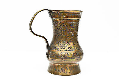 18th century Antique Indian Islamic brass bronze mug