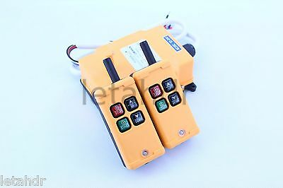 12-415V 2 Transmitters 4 Channels Industrial Wireless Crane Hoist Remote Control