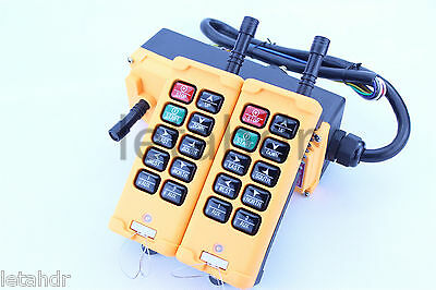 12-415V 2 Tansmitters 10 Channels Industrial Wireless Crane Hoist Remote Control