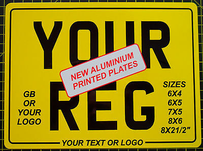 NUMBER PLATE rear Motorcycle Motorbike Bike SHOW PLATEs free border