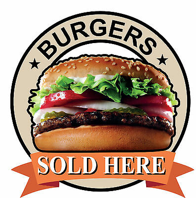 BURGERS HAMBURGERS SIGN Catering shop Sign Window sticker Cafe Restaurant decal